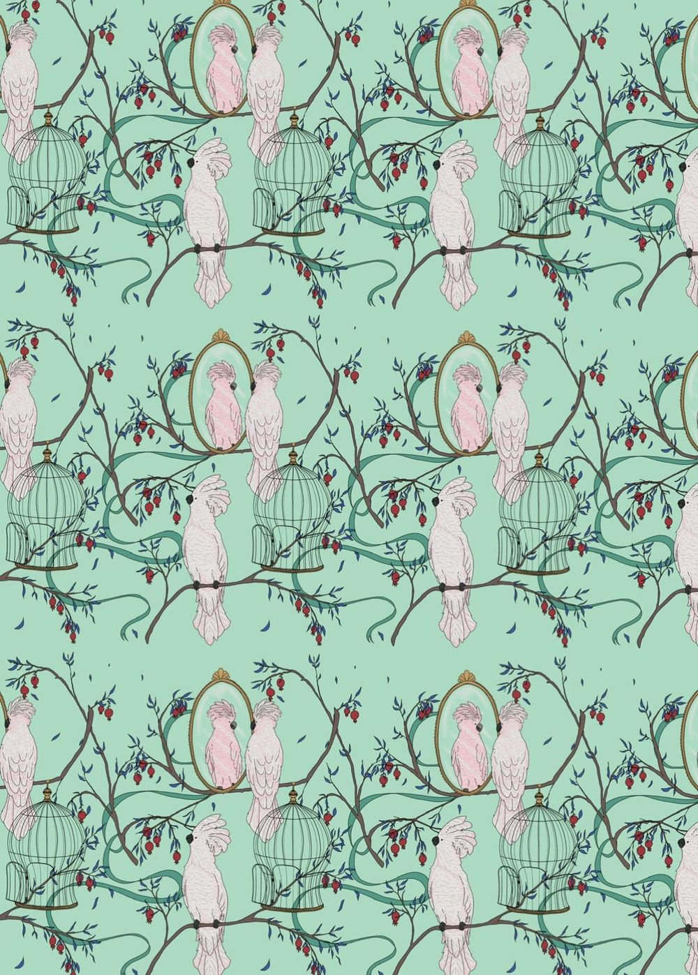 Cockatoo pattern - image 2 - student project