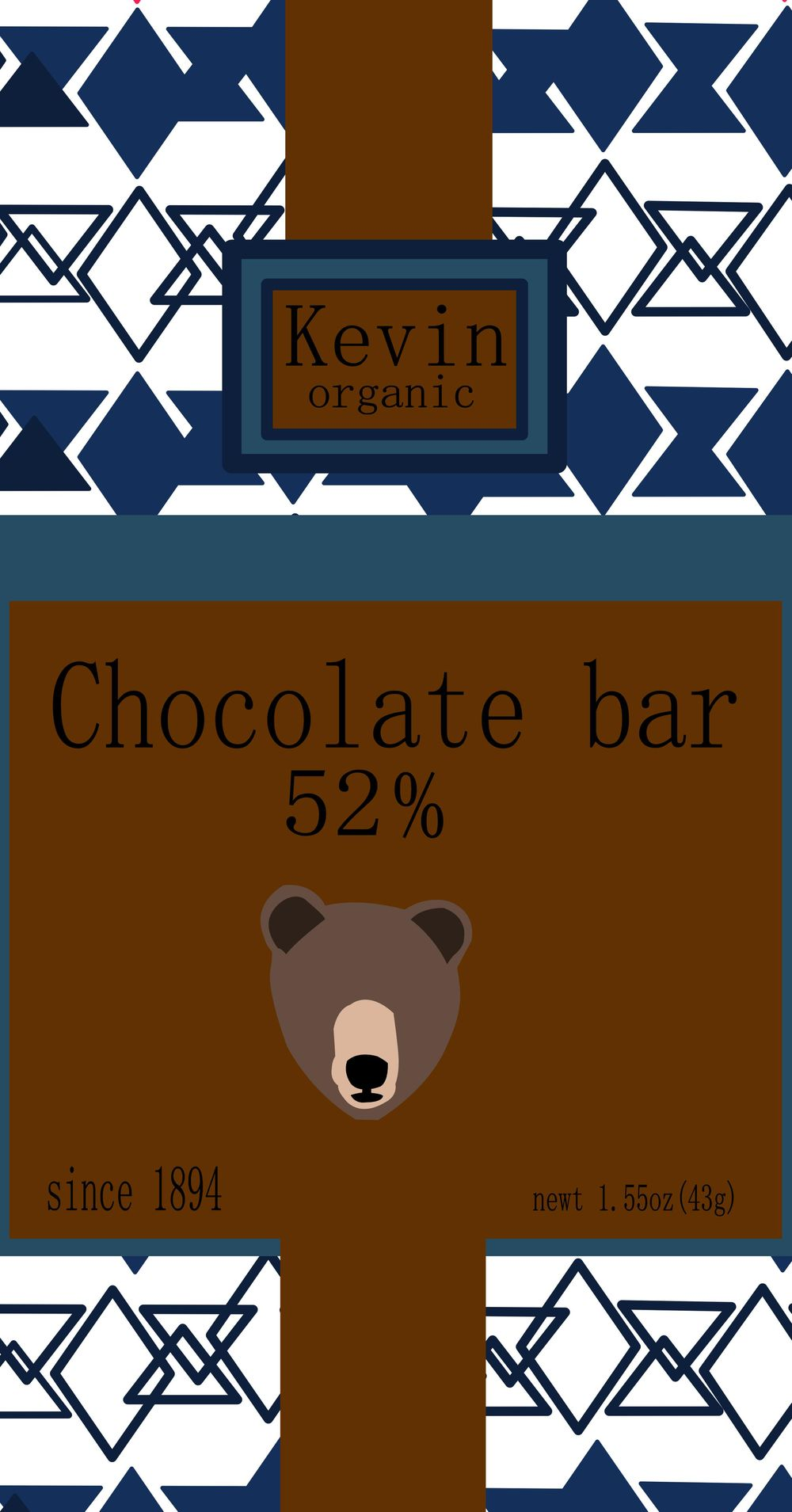 chocolate bar Packaging - image 1 - student project