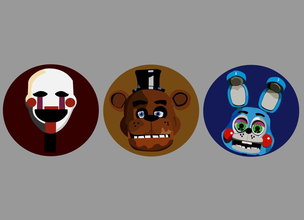 Five Nights at Freddy's icon set - image 1 - student project
