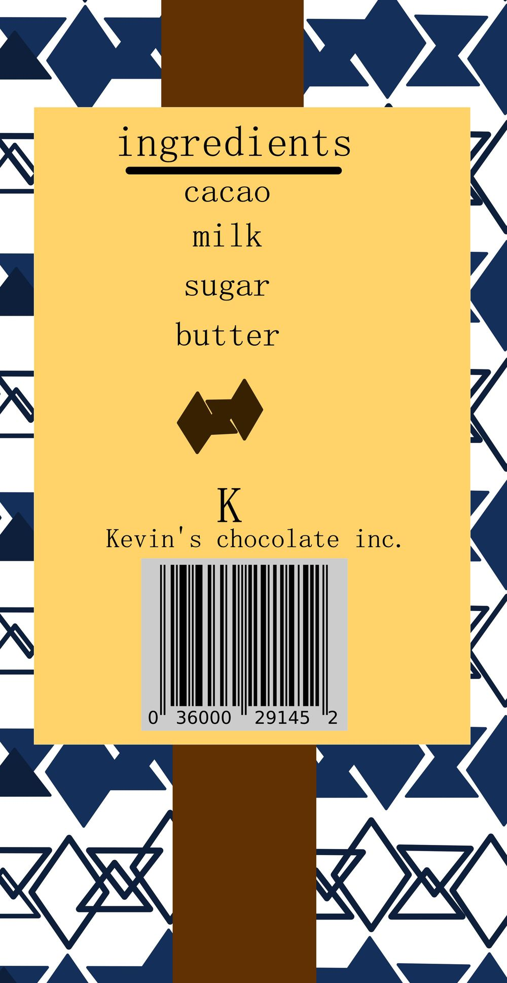 chocolate bar Packaging - image 2 - student project