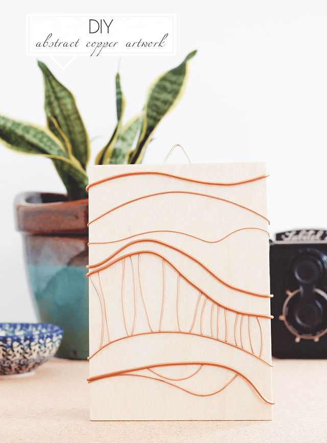 DIY Abstract Copper Artwork - image 1 - student project