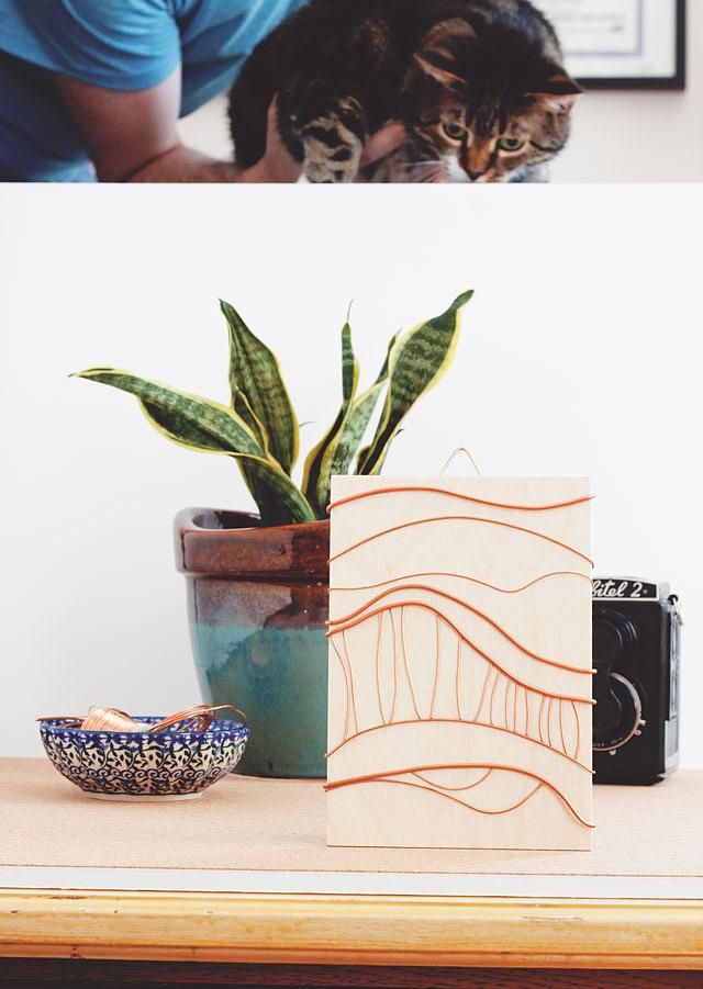 DIY Abstract Copper Artwork - image 6 - student project