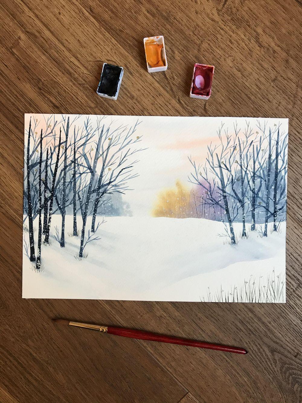 Winter scene - image 1 - student project