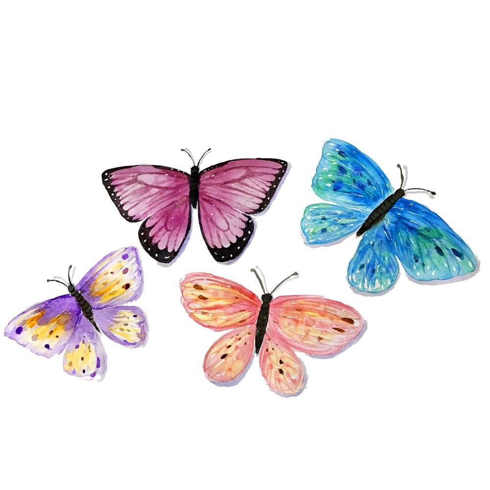 First Watercolour Butterflies - image 1 - student project