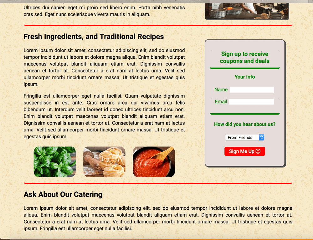 FlexBox Project - Pizza Time - image 2 - student project