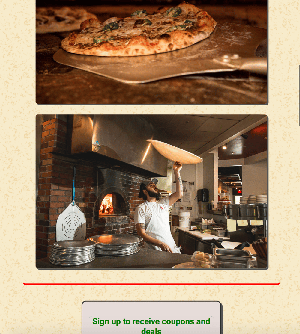 FlexBox Project - Pizza Time - image 6 - student project