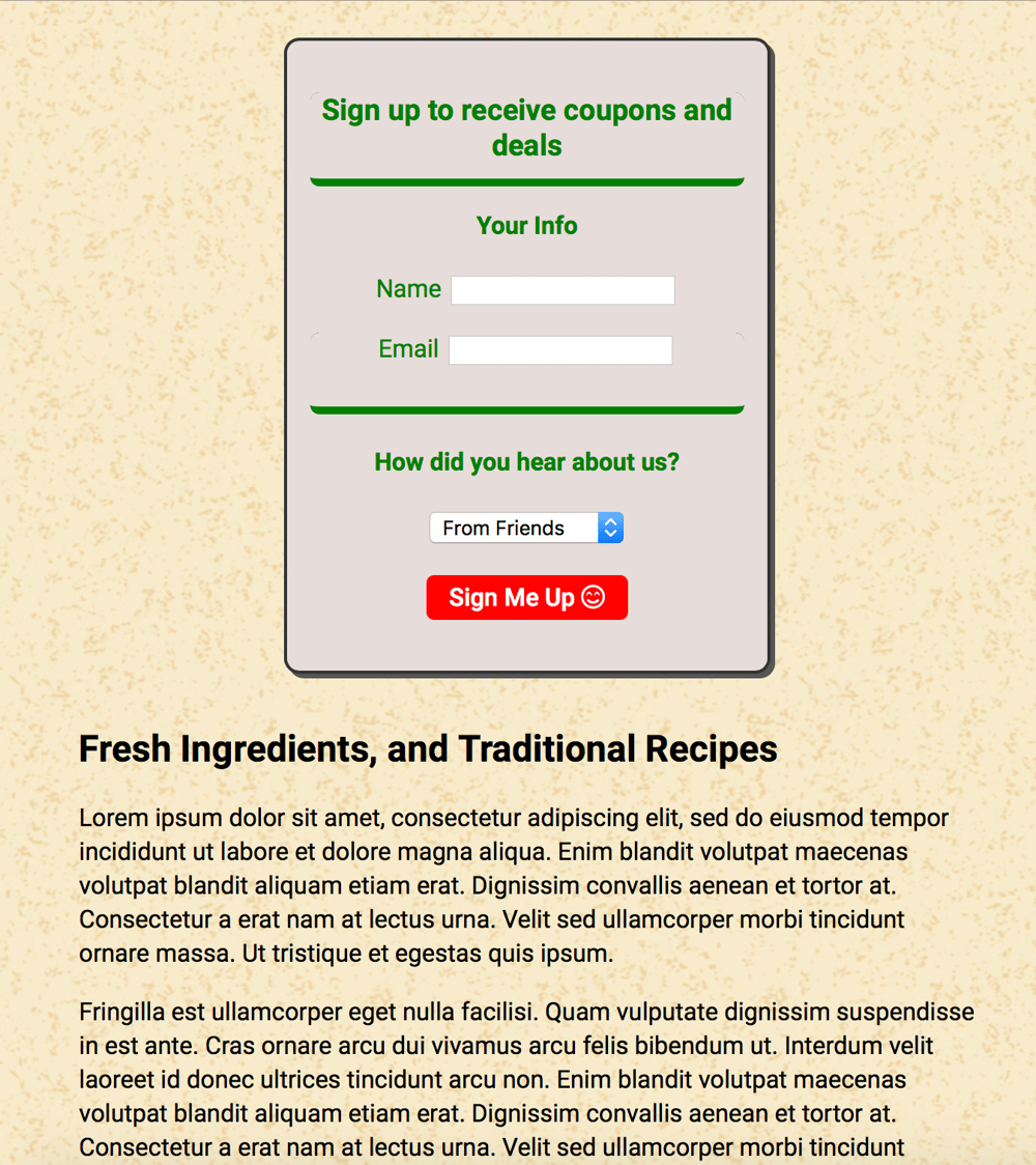 FlexBox Project - Pizza Time - image 7 - student project