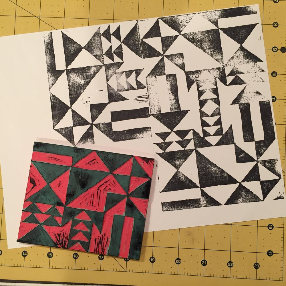 Quilt-Inspired Block Print - image 1 - student project