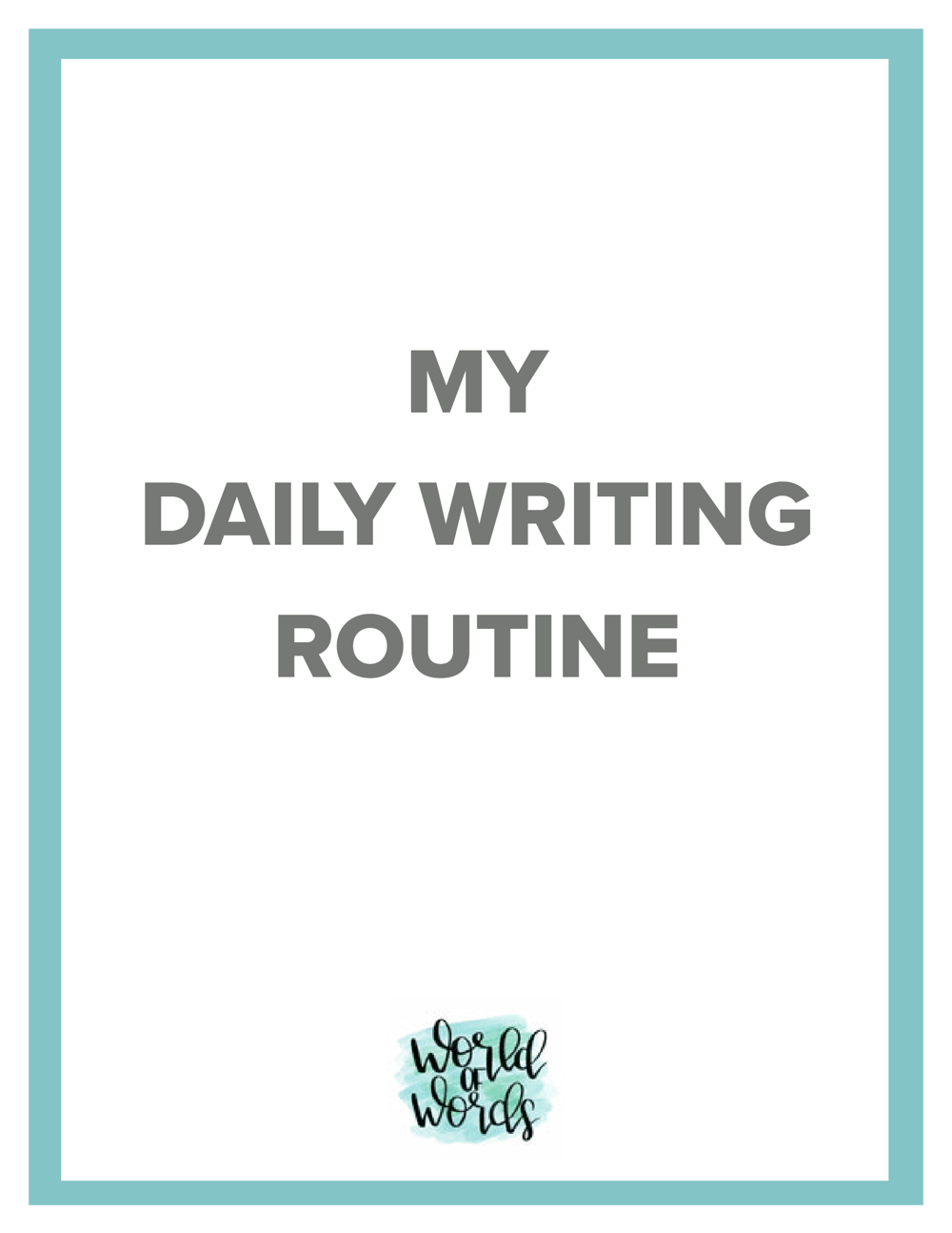 Writing routine - image 1 - student project