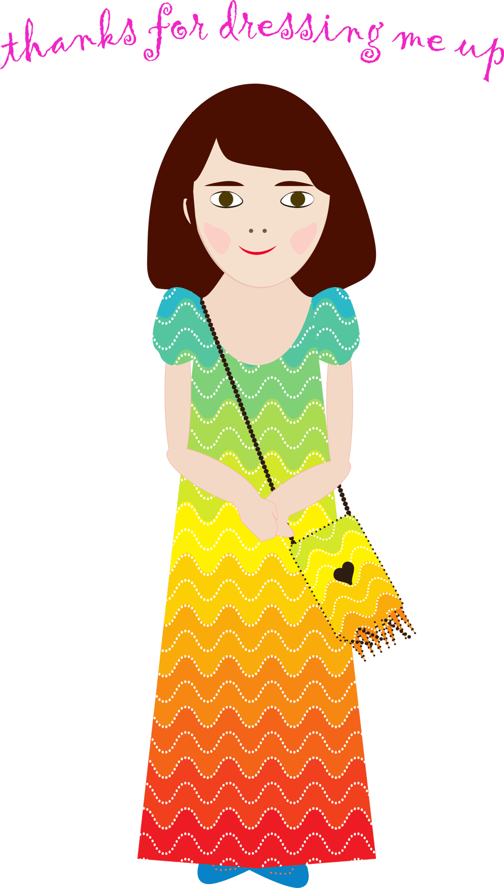 Ombre dress and matching bag - image 1 - student project