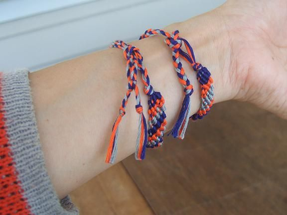 Bracelets to match my blue, orange and grey plaid sweater - image 2 - student project