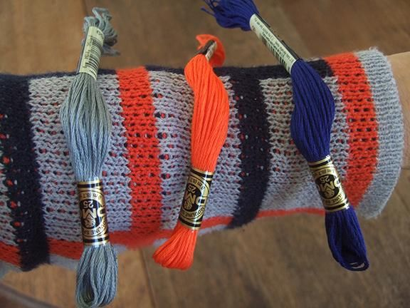 Bracelets to match my blue, orange and grey plaid sweater - image 3 - student project