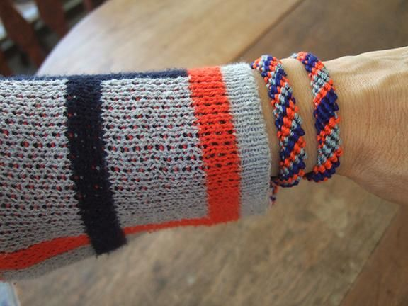 Bracelets to match my blue, orange and grey plaid sweater - image 1 - student project