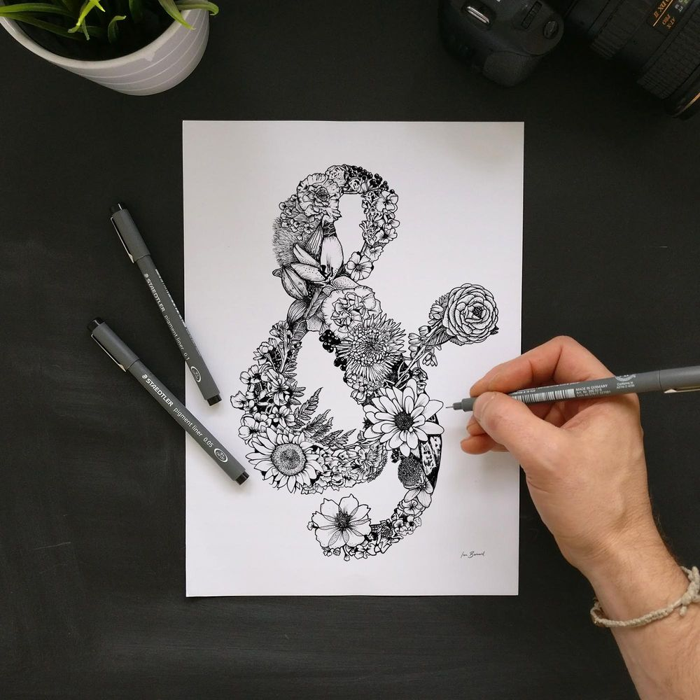 Floral Ampersand - image 5 - student project