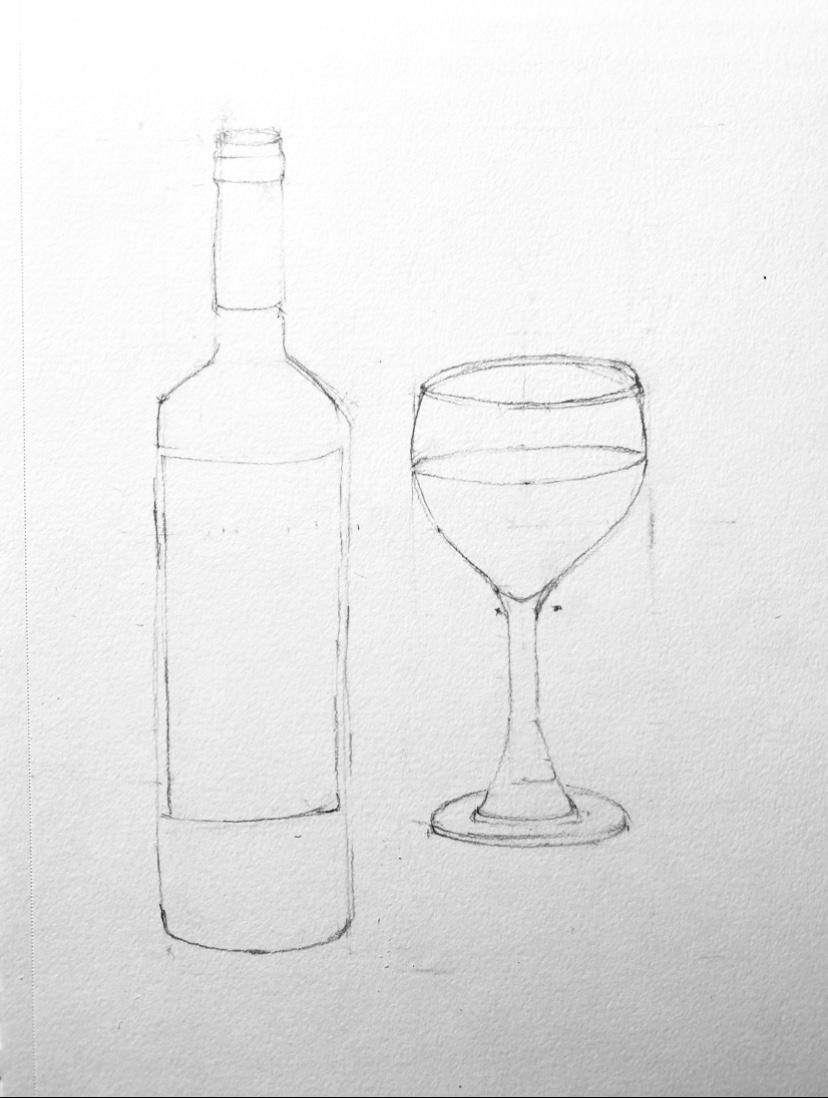 Wine glass and Bottle - image 1 - student project