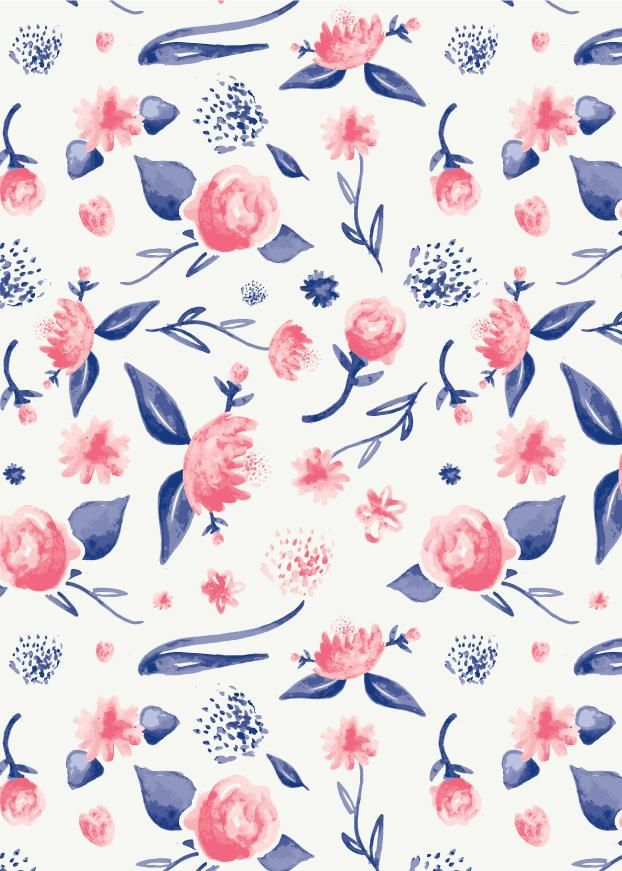 My First Watercolor Pattern - image 1 - student project