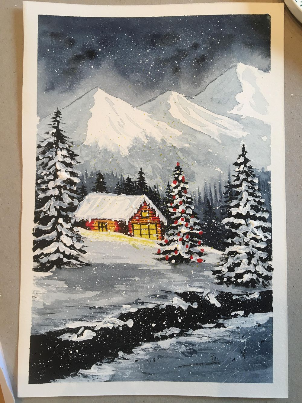 Snowy night - image 1 - student project