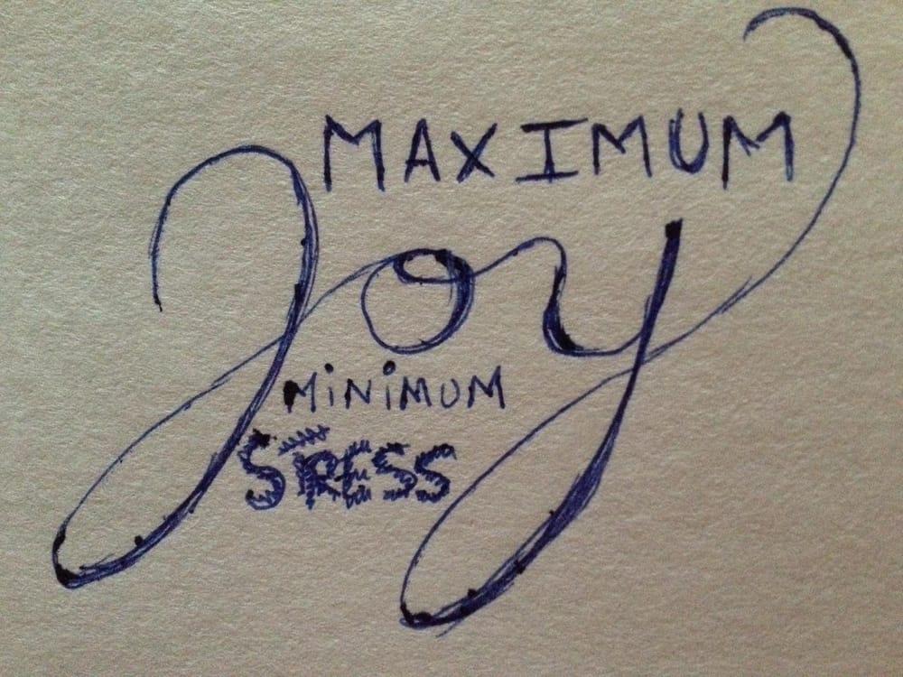 maximum joy, minimum stress - image 1 - student project