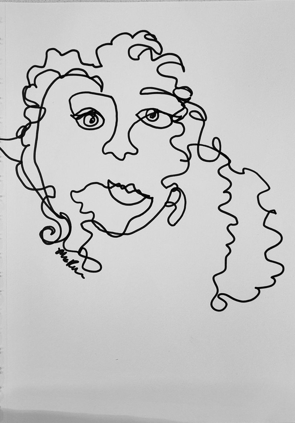 Line Self Portrait - image 3 - student project