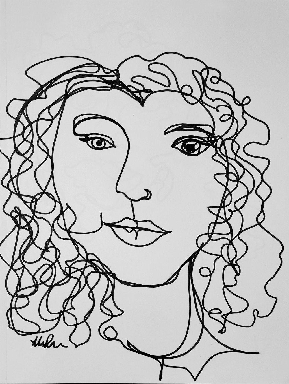 Line Self Portrait - image 2 - student project