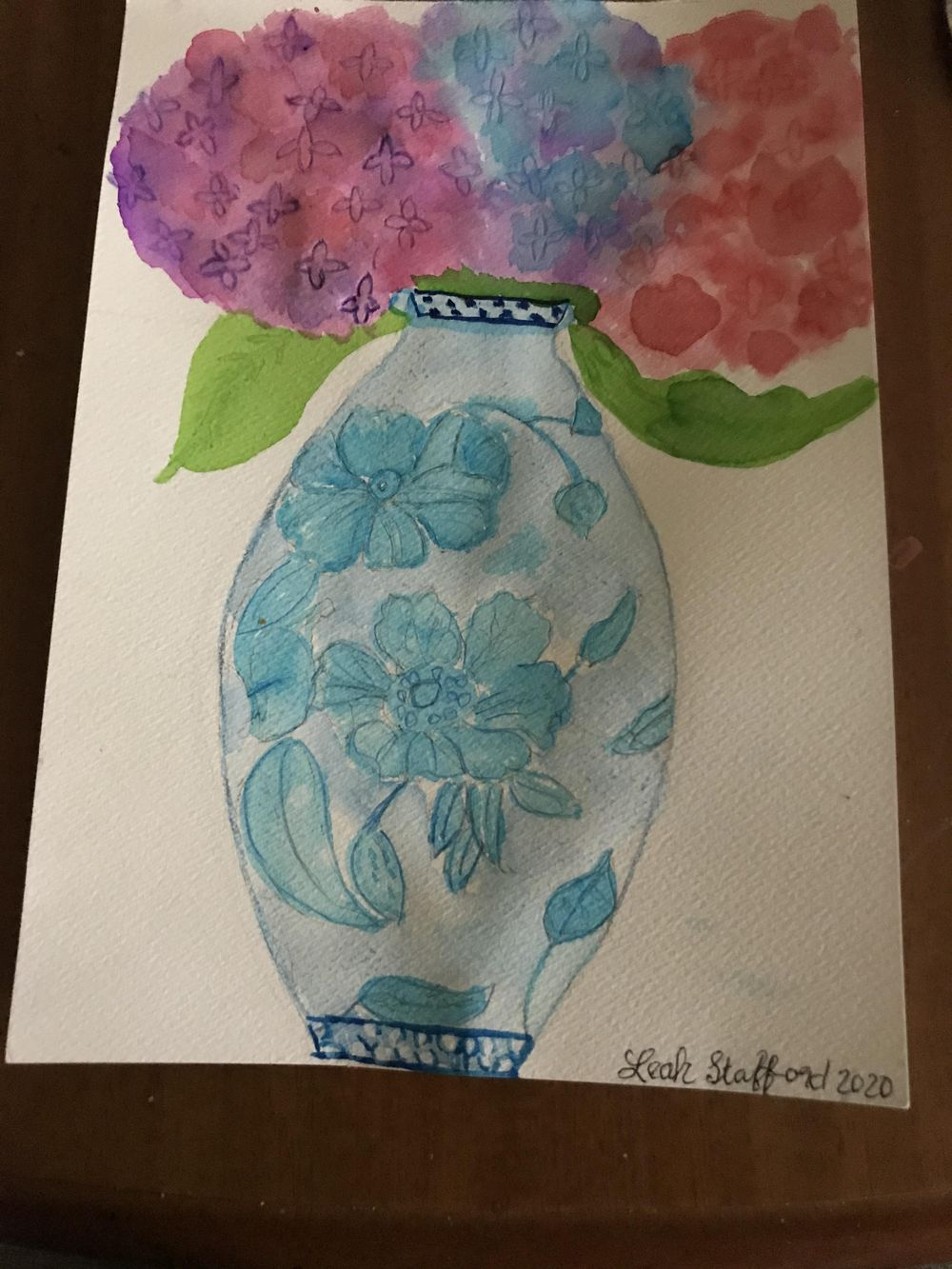 hydrangea in chinese vase. - image 1 - student project