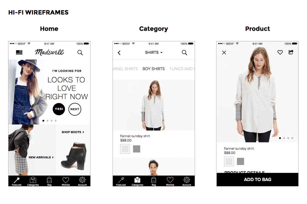 Madewell iOS App - image 5 - student project