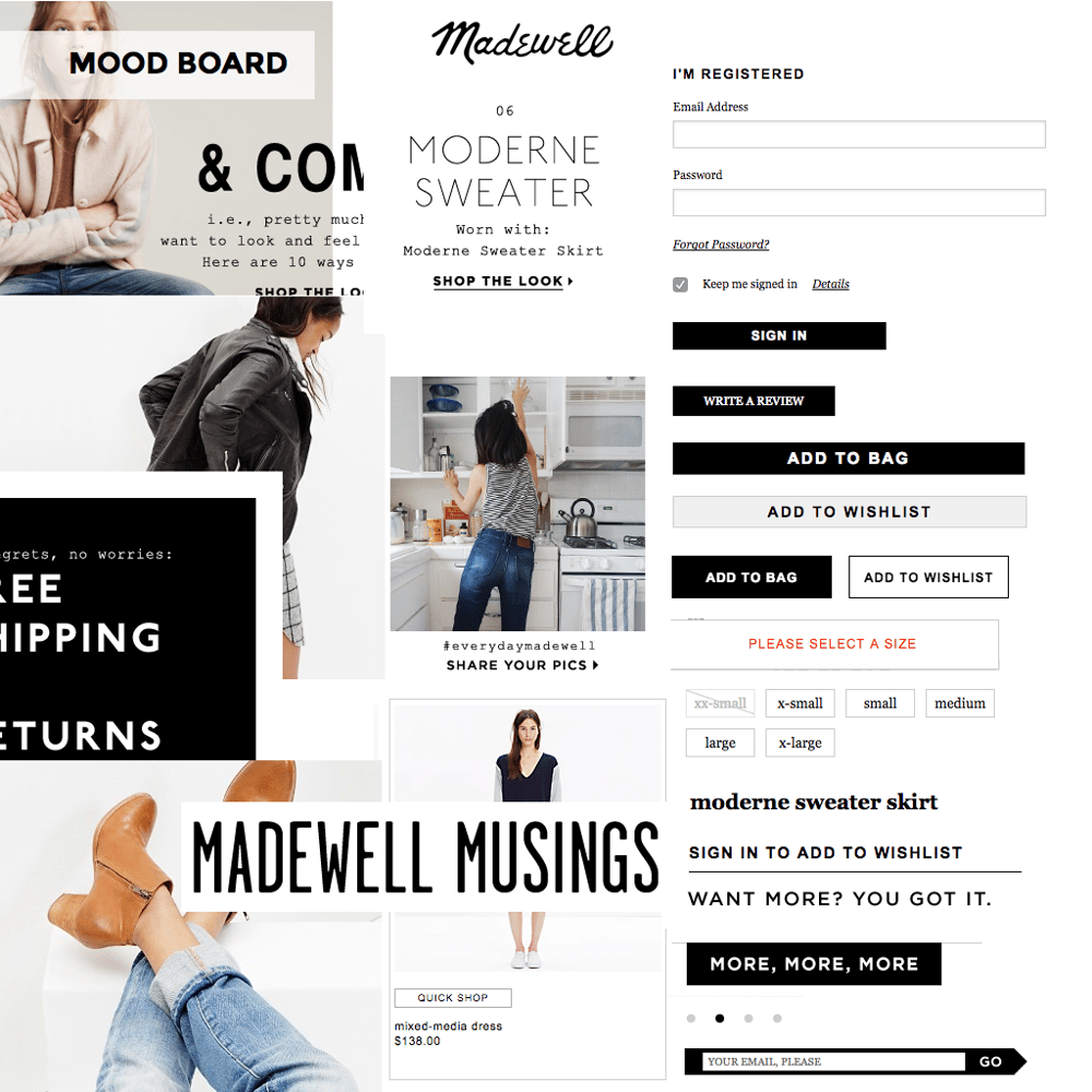 Madewell iOS App - image 1 - student project