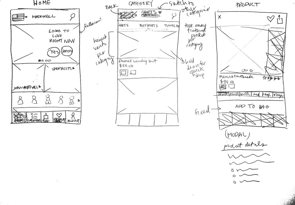 Madewell iOS App - image 3 - student project