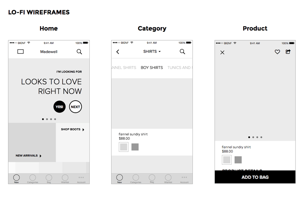 Madewell iOS App - image 4 - student project