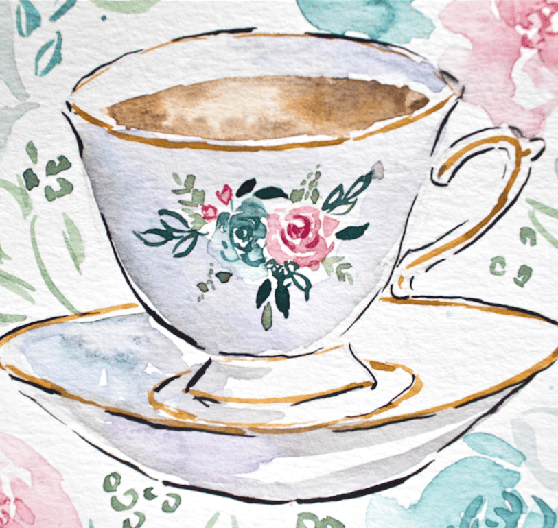 Teacup & Flowers in the Mason Jar - image 2 - student project