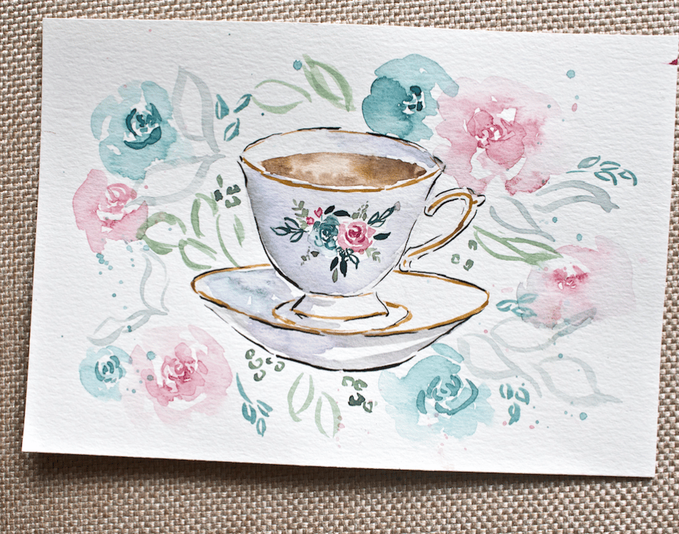Teacup & Flowers in the Mason Jar - image 1 - student project