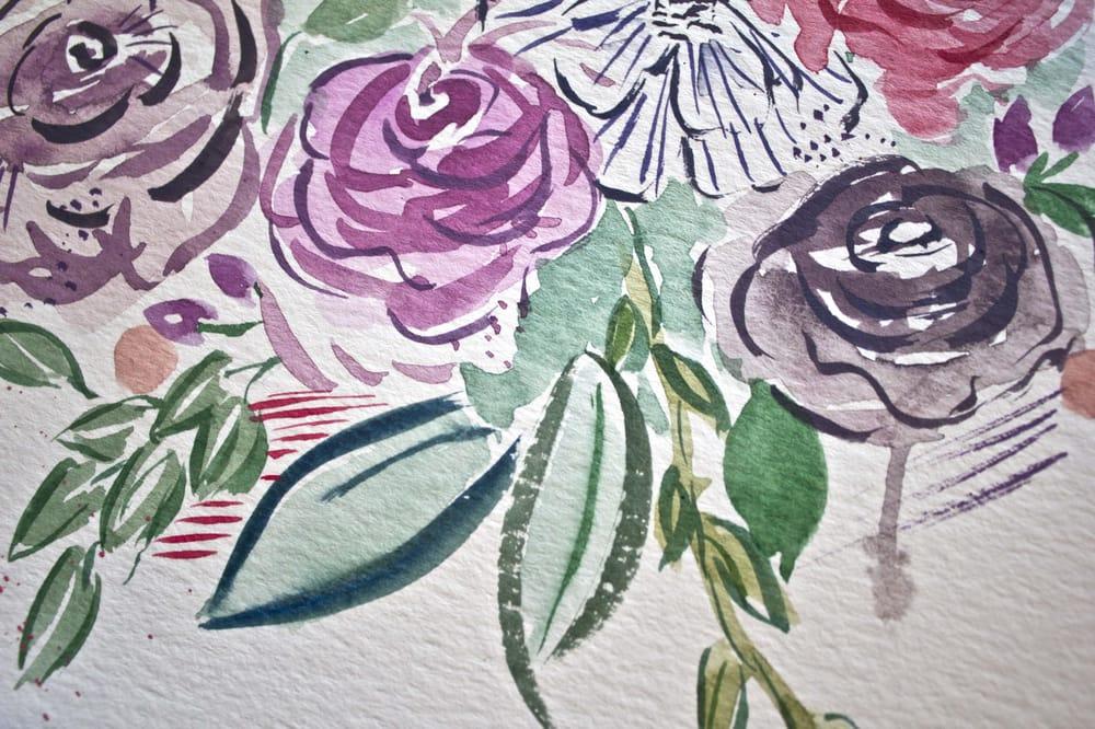 My expressive illustrative floral practice bouqet - image 3 - student project