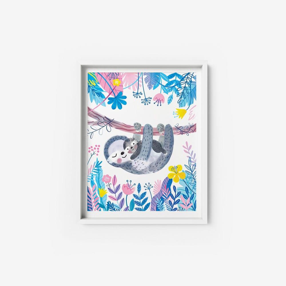 Sloth Nursery Wall Art - image 1 - student project
