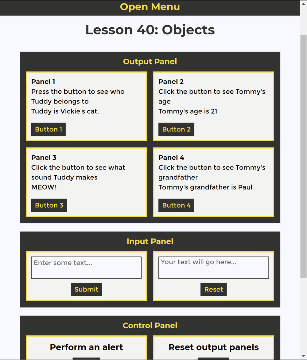 JavaScript/jQuery/jQuery UI Project - image 4 - student project