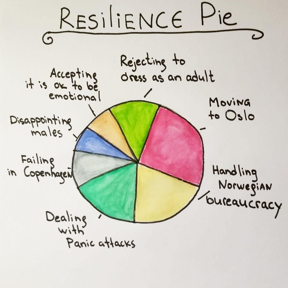 Pie chart of Resilience and my future self - image 1 - student project