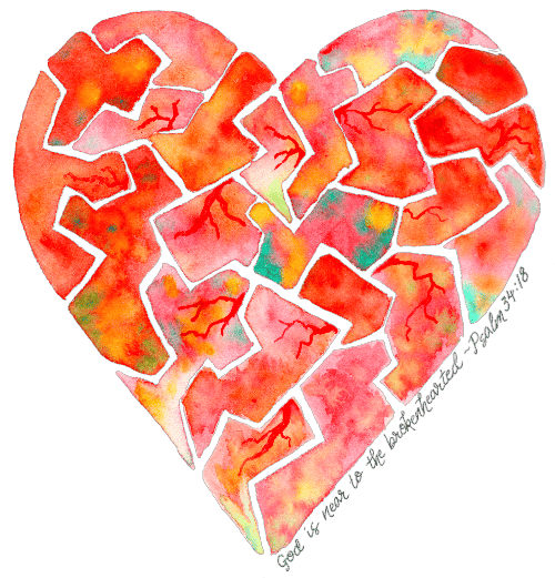 Brokenhearted (Psalm 34:18) - image 1 - student project