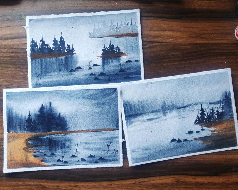 Soft and flowy watercolor landscapes - image 1 - student project