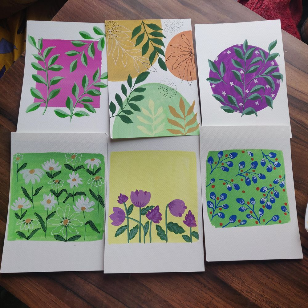 Pattern painting in gouache with Uma. - image 1 - student project