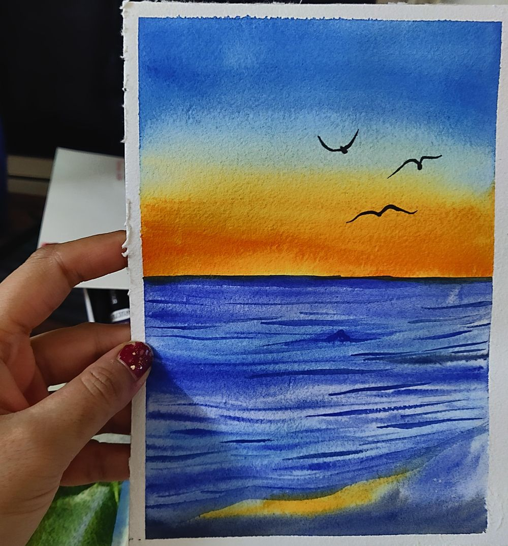 Watercolor aesthetic sunsets. - image 1 - student project