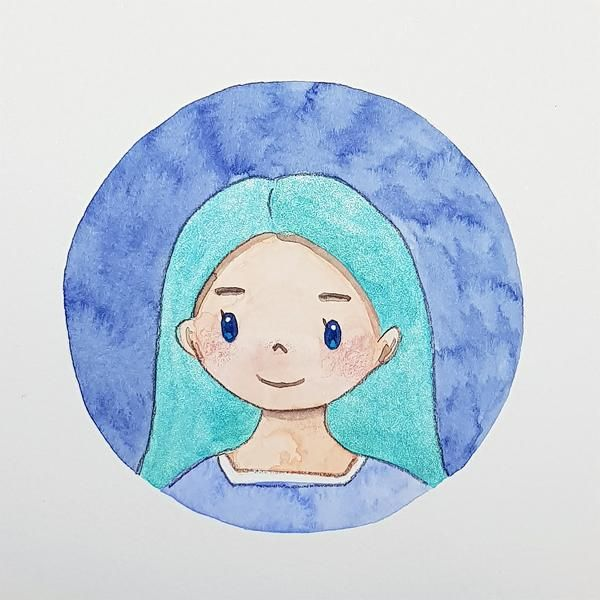 watercolor character - image 1 - student project