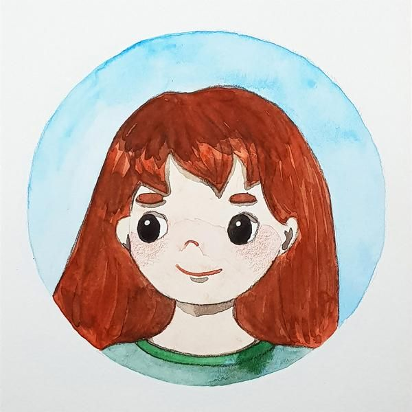 watercolor character - image 2 - student project