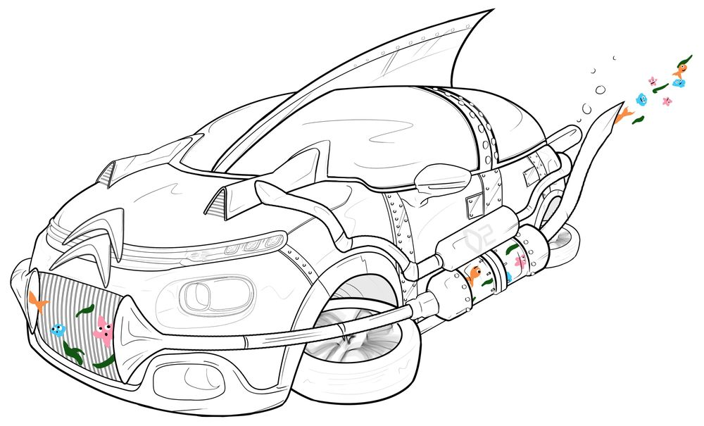 Turning my Citroen C3 into an Aquanaut's Ride + Octopus - image 1 - student project