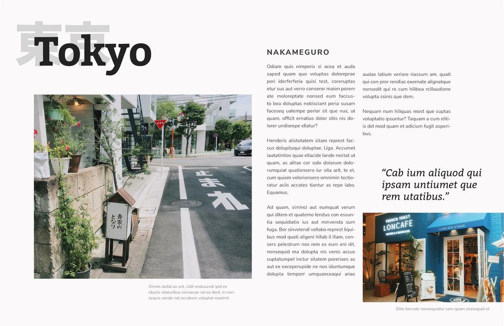 Mock Travel Mag: Kyoto - image 6 - student project