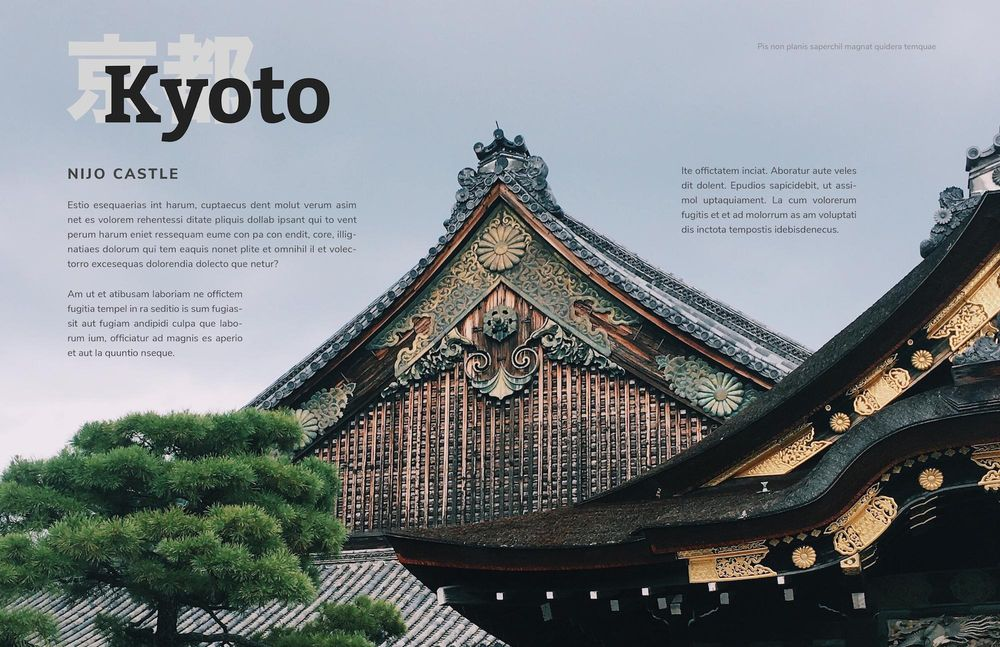 Mock Travel Mag: Kyoto - image 1 - student project