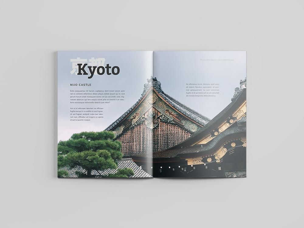 Mock Travel Mag: Kyoto - image 3 - student project