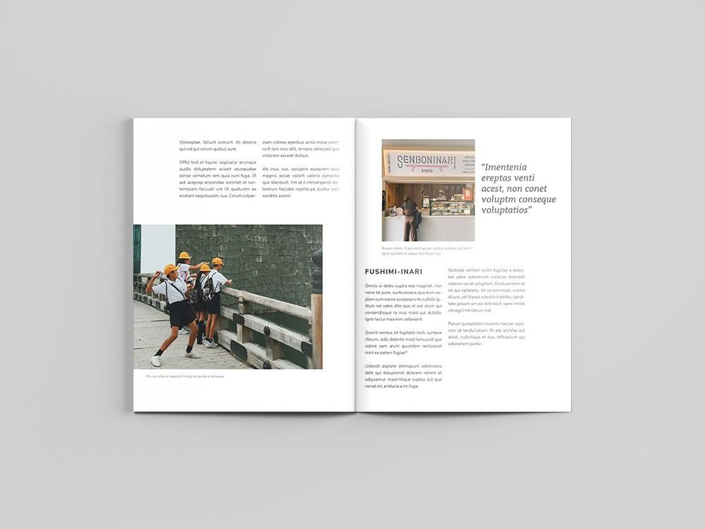 Mock Travel Mag: Kyoto - image 4 - student project