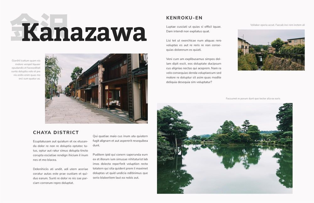 Mock Travel Mag: Kyoto - image 5 - student project