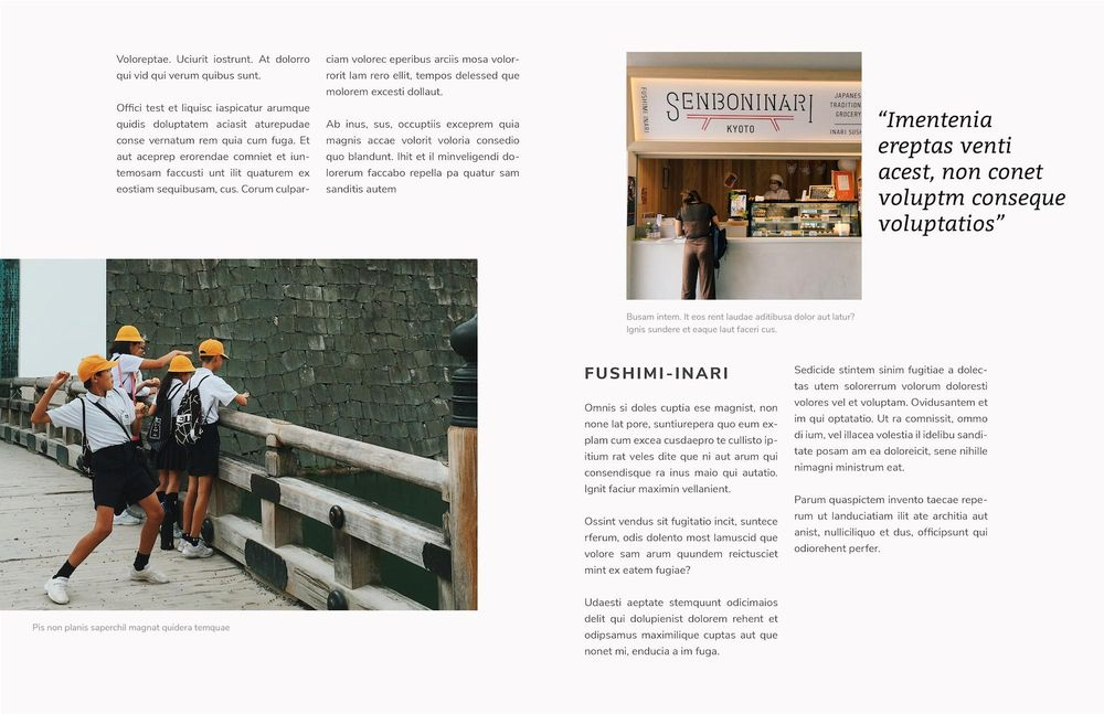 Mock Travel Mag: Kyoto - image 2 - student project