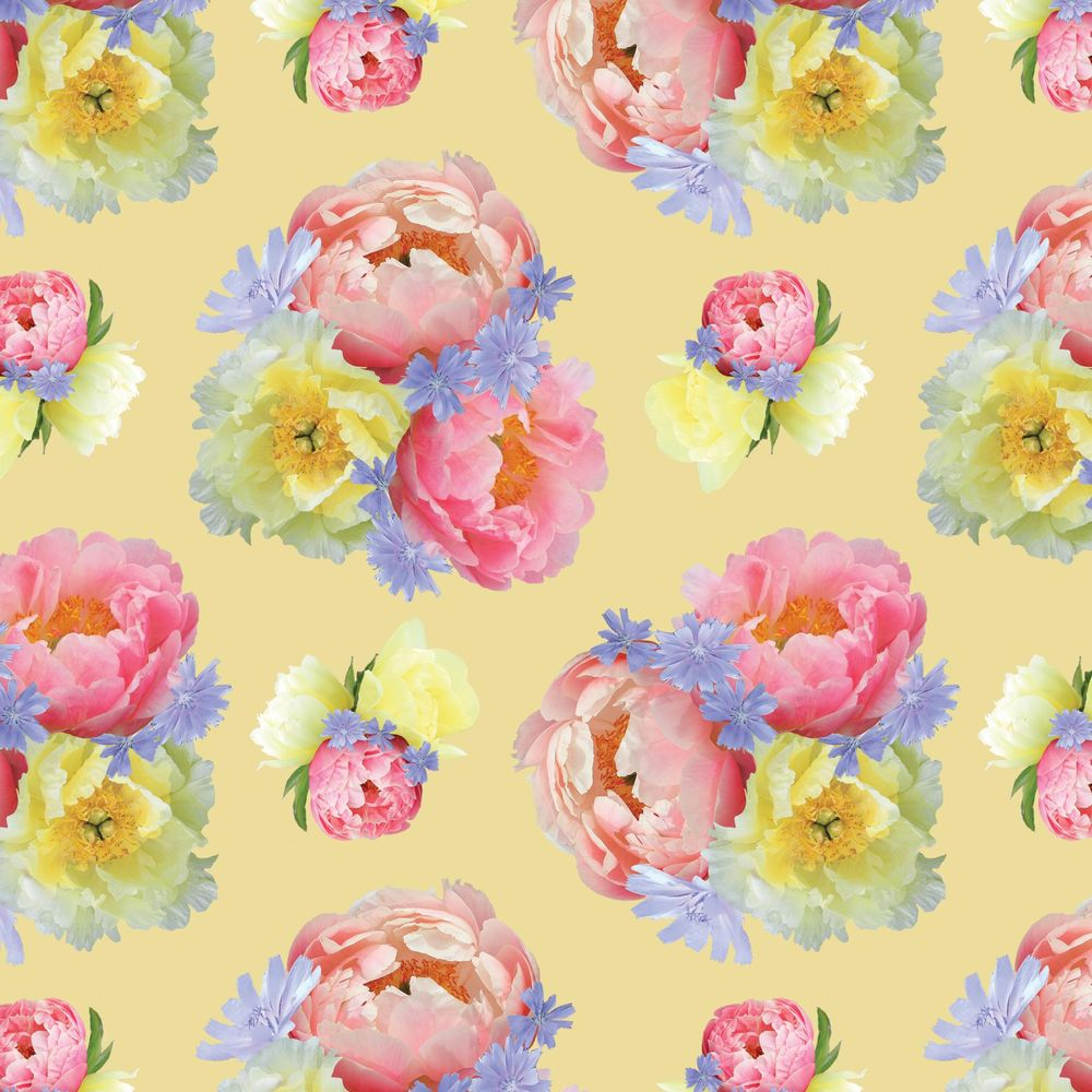 Pattern design from floral motifs - image 4 - student project