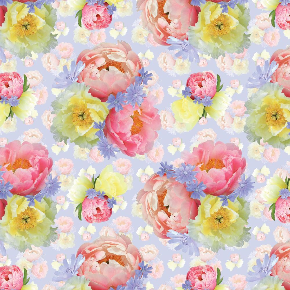 Pattern design from floral motifs - image 2 - student project